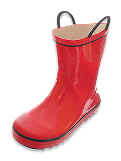 "Boys' ""High Line"" Rain Boots by Shoe Shox in Red"