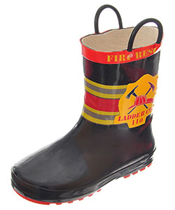 "Lilly Baby Boys' ""Ladder 110"" Rain Boots (Toddler Sizes 11 – 12) - CookiesKids.com"