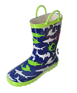 "Lilly Boys' ""Shark Shower"" Rain Boots (Toddler Sizes 5 – 10) - CookiesKids.com"