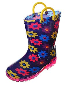 "Lilly Girls' ""Sunflower"" Light-Up Rain Boots (Toddler Sizes 5 – 10) - CookiesKids.com"