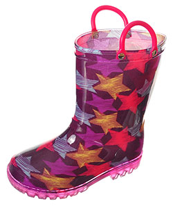 "Lilly Girls' ""Starstreak"" Light-Up Rain Boots (Toddler Sizes 5 – 10) - CookiesKids.com"