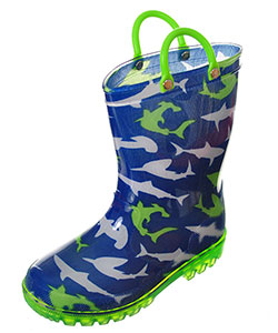 "Lilly Boys' ""Ocean Swim"" Light-Up Rain Boots (Toddler Sizes 5 – 10) - CookiesKids.com"