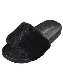 "Chillipop Girls' ""Plush"" Slide Sandals (Sizes 12 – 4) - CookiesKids.com"