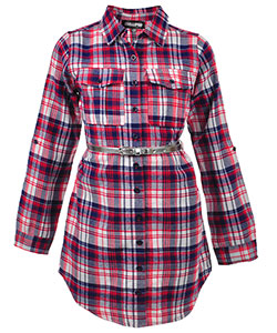 Chillipop Little Girls' Belted Button-Down Dress (Sizes 4 – 6X) - CookiesKids.com