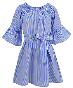 Chillipop Big Girls' Belted Dress (Sizes 7 – 16) - CookiesKids.com