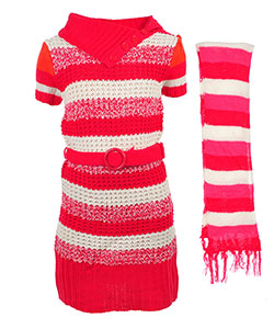 Chillipop Girls' Sweater Dress with Scarf - CookiesKids.com