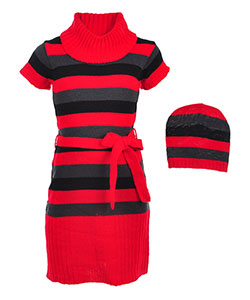 Chillipop Girls' Sweater Dress with Hat - CookiesKids.com