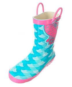 Lilly Girls' Rubber Rain Boots (Sizes 5 – 10) - CookiesKids.com