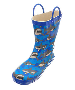 Lilly Boys' Rubber Rain Boots (Sizes 11 – 3) - CookiesKids.com