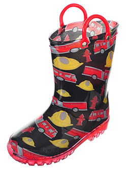 Lilly Boys' Light-Up Rubber Rain Boots (Sizes 5 – 10) - CookiesKids.com