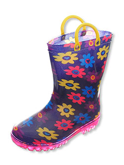 Lilly Girls' Light-Up Rubber Rain Boots (Sizes 5 – 10) - CookiesKids.com