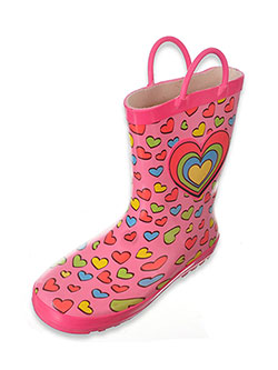 Lilly Girls' Rubber Rain Boots (Sizes 5 – 3) - CookiesKids.com