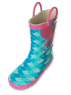Girls' Rubber Rain Boots by Lilly in Green