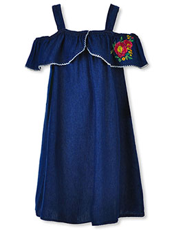 Girls' Cold Shoulder Dress by Chillipop in Dark blue