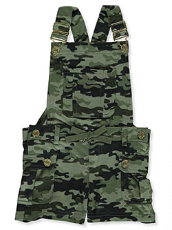 Baby Girls' Camo Shortalls by Chillipop in Camo - Overalls & Shortalls