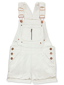Girls' Denim Shortalls by Chillipop in White - Overalls & Jumpers