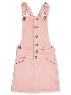 Girls' Button Front Corduroy Skirtalls by Chillipop in Pink
