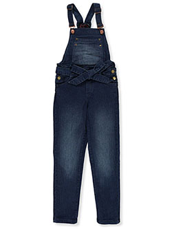 Girls' Belted Denim Overalls by Chillipop in Denim
