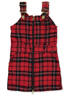 Girls' Zip Front Skirtalls by Chillipop in Red, Infants