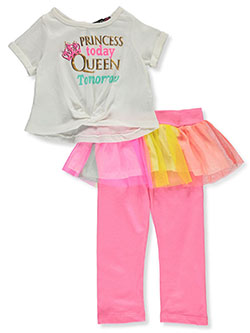 Girls' Queen Tutu 2-Piece Leggings Set Outfit by Wild in Multi