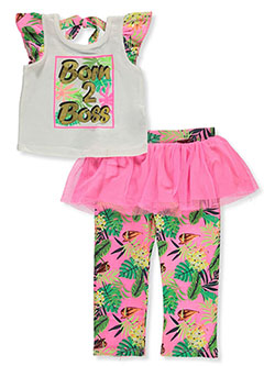 Girls' Boss 2-Piece Leggings Set Outfit by Wild in Multi