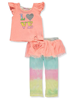 Girls' Love 2-Piece Leggings Set Outfit by Wild in Multi