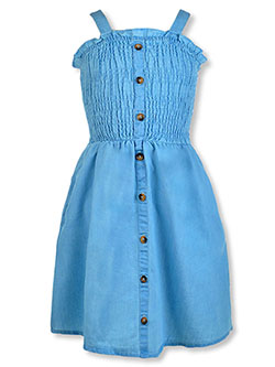 Girls' Denim Tank Dress by Chillipop in Denim