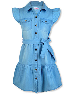 Girls' Denim Dress by Chillipop in Denim