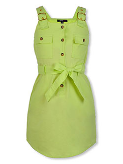 Girls' Twill Skirtalls by Girls Hearts in lime, olive and peach