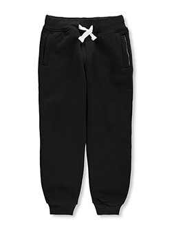 "Little Boys' ""Drawstring Basic"" Joggers by Southpole in black, heather gray and navy"