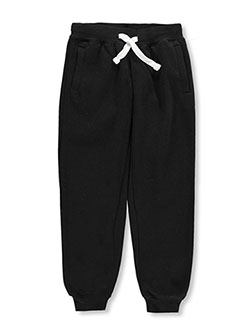 "Big Boys' ""Drawstring Basic"" Joggers by Southpole in black and navy"