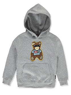 Boys' Chenille Bear Hoodie by Southpole in Heather gray