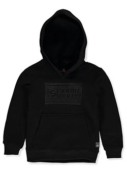 Boys' Box Logo Hoodie by Southpole in black, gray and red
