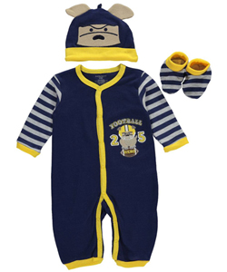 "Buster Brown Baby Boys' ""Football Hero"" 3-Piece Layette Set - CookiesKids.com"