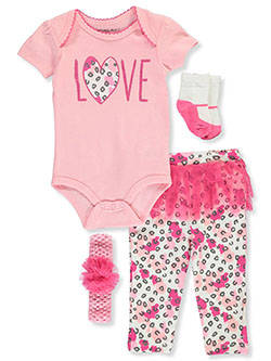 Emporio Love Tutu 4-Piece Layette Set by Emporio Baby in Pink