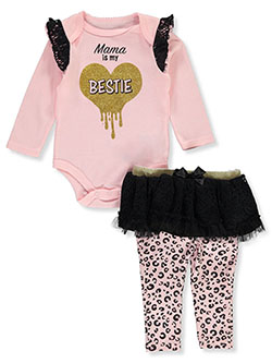 Baby Girls' Bestie 2-Piece Layette Set by Weeplay in Multi - $12.99