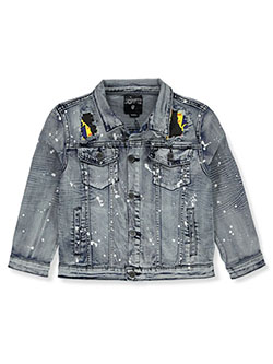 Boys' Paint Splatter Denim Jacket by Encrypted in Tint