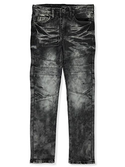 Boys' Moto Jeans by Encrypted in Black
