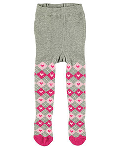 "Rising Star ""Heart Argyle"" Knit Tights (Sizes 0M – 24M) - CookiesKids.com"