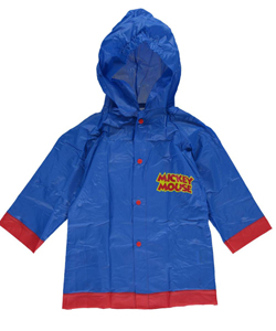 "Mickey Mouse Little Boys' ""Collegiate Lettering"" Rain Slicker (Sizes 4 – 7) - CookiesKids.com"