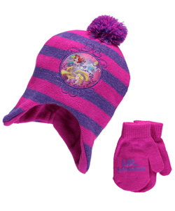"Disney Princess ""Up for Adventure"" Beanie and Mittens Set (Toddler One Size) - CookiesKids.com"