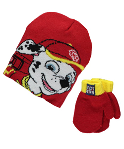 "Paw Patrol ""Firehouse Pup"" Beanie and Mittens Set (Toddler One Size) - CookiesKids.com"