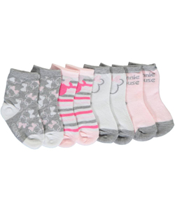 "Minnie Mouse Baby Girls' ""Soft Shadow"" 4-Pack Crew Socks - CookiesKids.com"