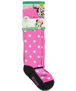 "Minnie Mouse Baby Girls' ""Ridged Polka"" Thigh-High Socks - CookiesKids.com"