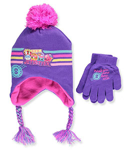 Shopkins Girls' Beanie & Gloves Set (Youth One Size) - CookiesKids.com