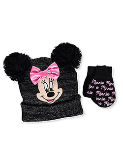 Disney Minnie Mouse Girls' Beanie & Mittens Set (Toddler One Size) - CookiesKids.com