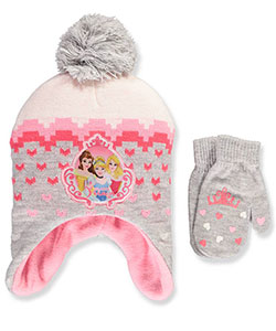 Disney Princess Girls' Beanie & Mittens Set (Toddler One Size) - CookiesKids.com