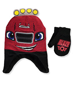 Blaze and the Monster Machines Boys' Beanie & Mittens Set (Toddler One Size) - CookiesKids.com