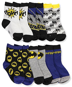 Batman Baby Boys' 6-Pack Crew Socks - CookiesKids.com