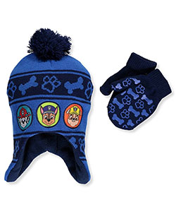 Paw Patrol Boys' Beanie & Mittens Set (Toddler One Size) - CookiesKids.com